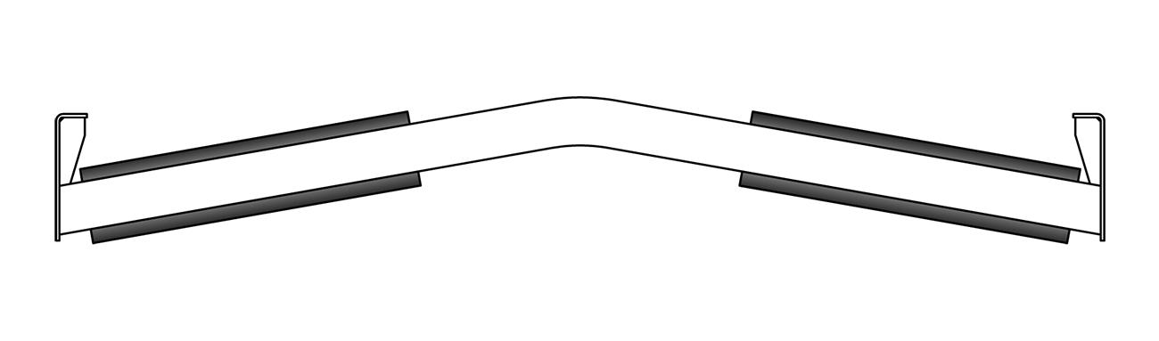 RKM Rollers Inverted Vee Return Trainer Idler Frame
