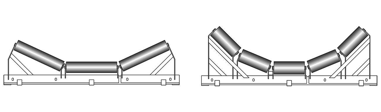 RKM Rollers Retractable Trough Idler Frame